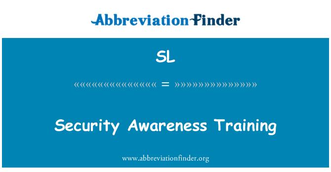 SL: Latihan kesedaran keselamatan