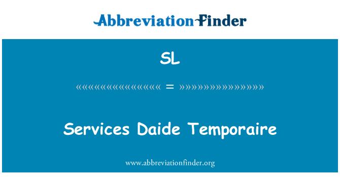 SL: Perkhidmatan Daide Temporaire