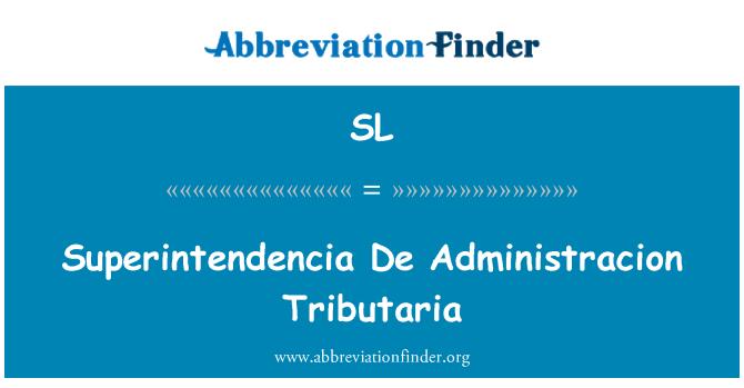 SL: Tributaria Superintendencia De Administracion