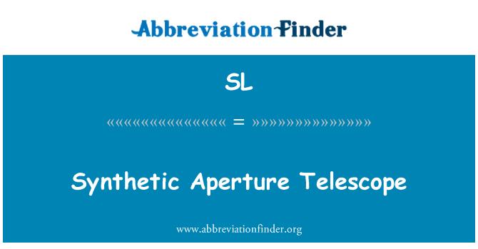 SL: Teleskop bukaan sintetik