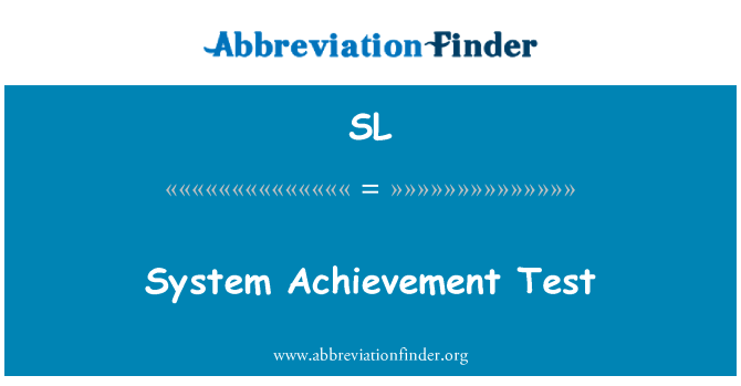 SL: Sistem pencapaian ujian