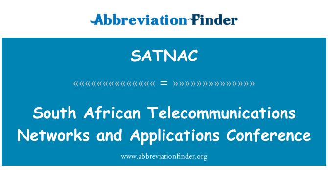 SATNAC: Južnoafrički telekomunikacijske mreže i aplikacija konferencije