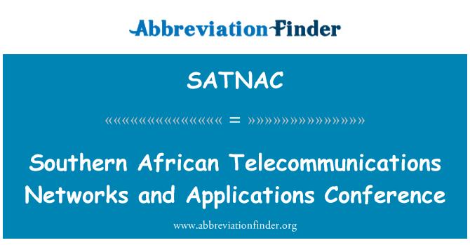 SATNAC: Južne afričke telekomunikacijske mreže i aplikacija konferencije