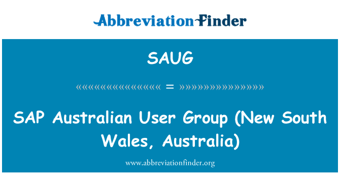SAUG: SAP   Australian User Group (New South Wales, Australia)