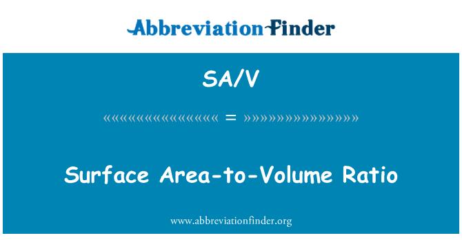 SA/V: Surface Area-to-Volume Ratio
