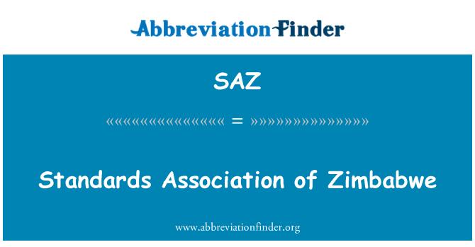 SAZ: Standards Association of Zimbabwe