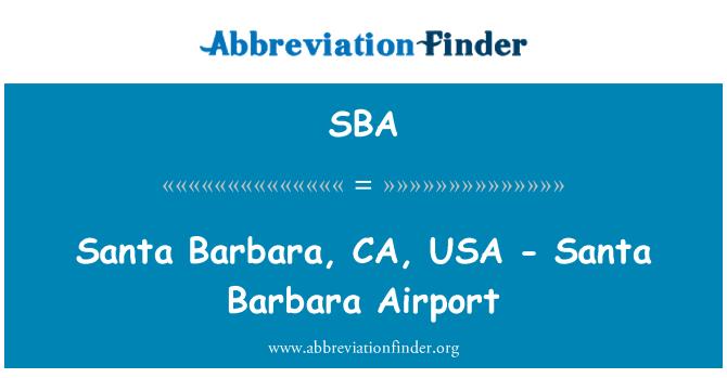 SBA: Santa Barbara, CA, USA - Santa Barbara Airport