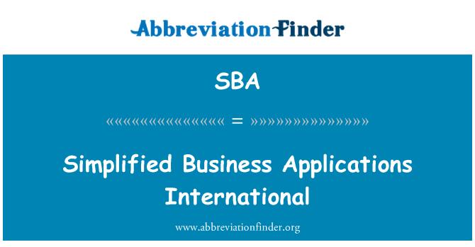SBA: Simplified Business Applications International