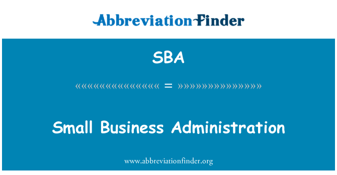 SBA: Small Business Administration