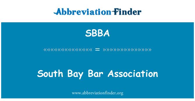 SBBA: South Bay Bar Association