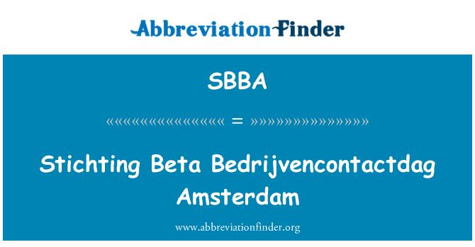 SBBA: Stichting Beta Bedrijvencontactdag Amsterdam