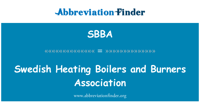 SBBA: Swedish Heating Boilers and Burners Association