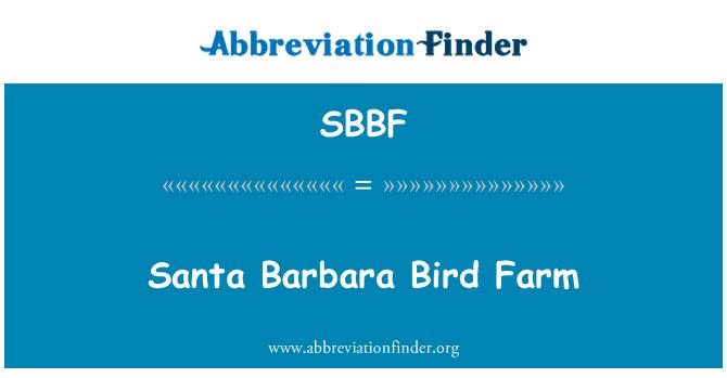SBBF: Santa Barbara Bird Farm