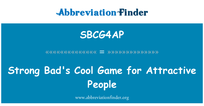 SBCG4AP: Strong Bad's Cool Game for Attractive People