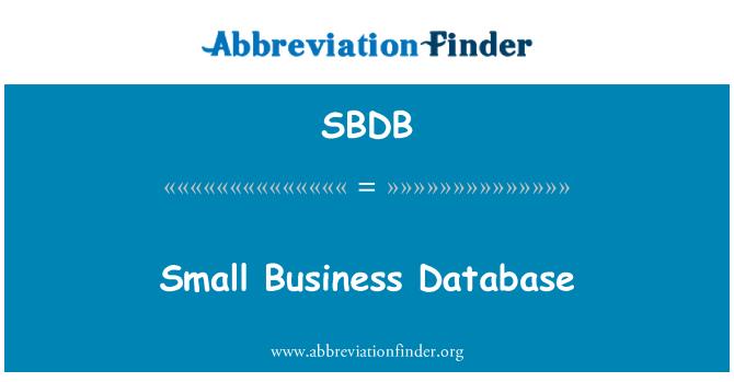 SBDB: Malé firmy databáze