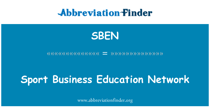SBEN: Sport äri Education Network