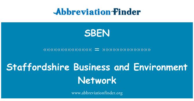 SBEN: Staffordshire'i äri ning keskkonnateabe