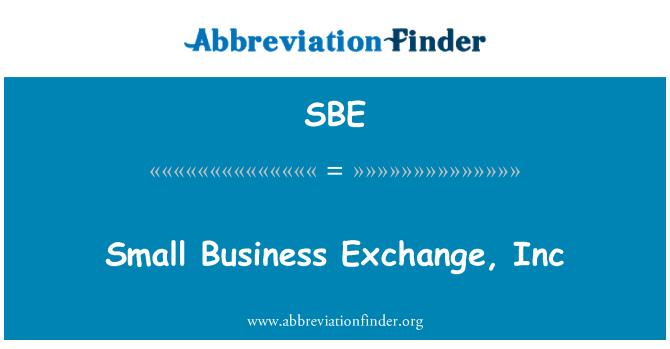 SBE: 小商业交易所有限公司