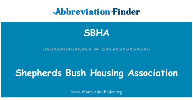 SBHA: Shepherds Bush Housing Association