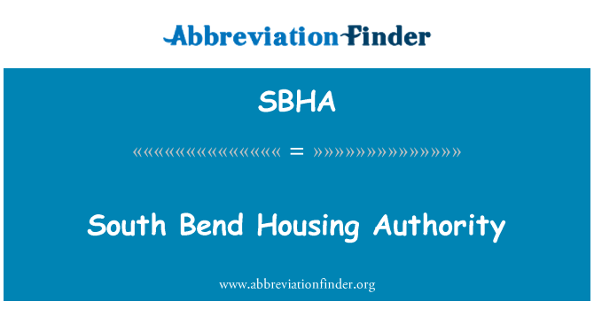 SBHA: South Bend Housing Authority