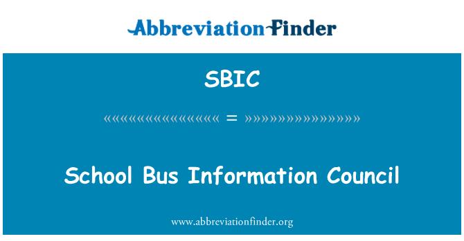 SBIC: School Bus Information Council