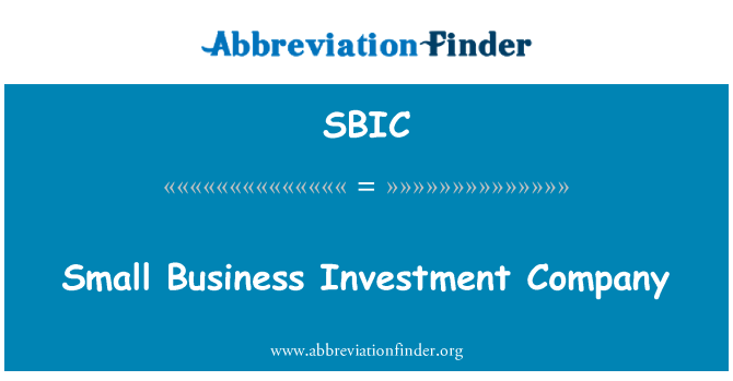 SBIC: Küçük iş Yatırım Ortaklığı