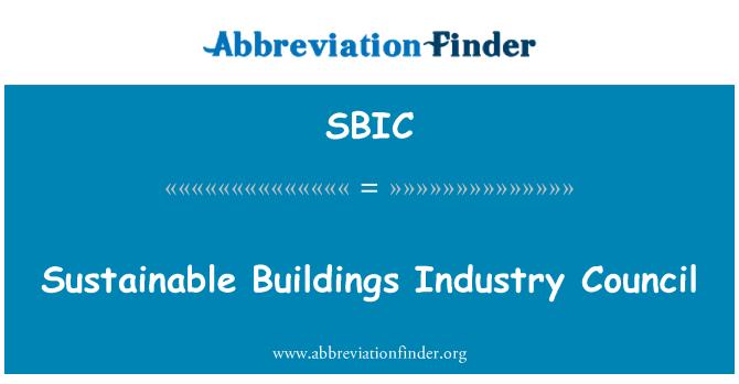 SBIC: Consejo de la industria de construcciones sostenibles