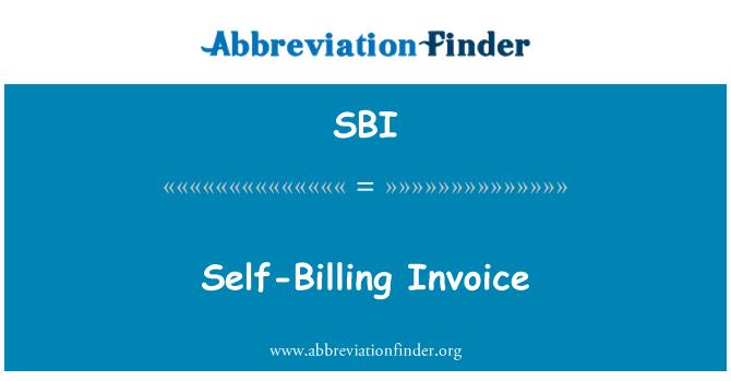 SBI: Self-Billing Invoice