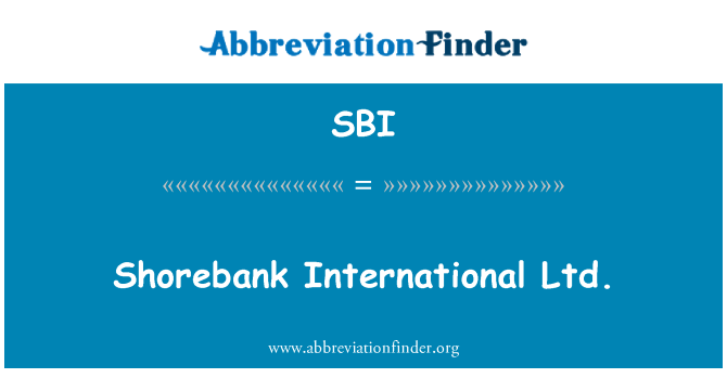 SBI: Shorebank International Ltd.