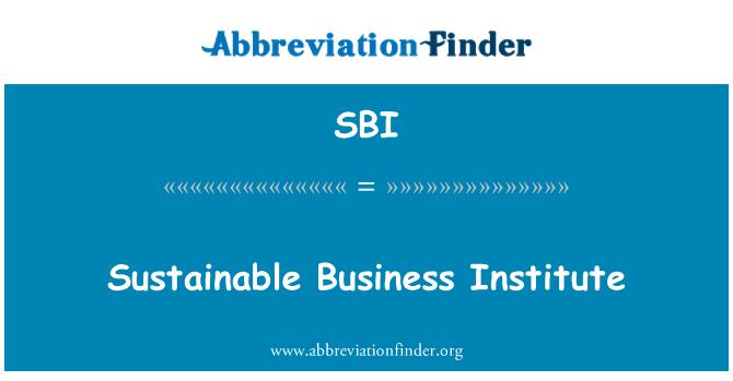 SBI: Sustainable Business Institute