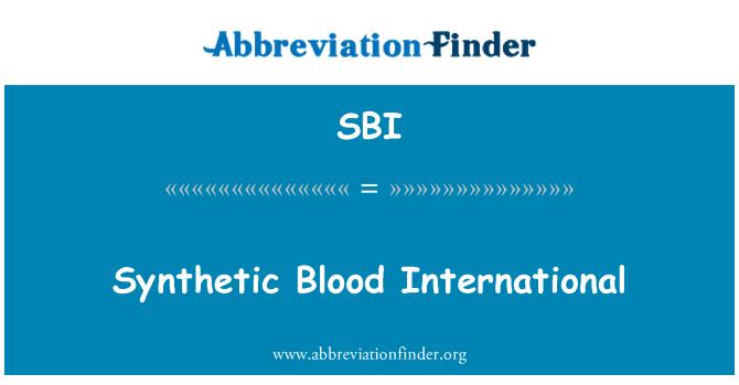 SBI: Synthetic Blood International