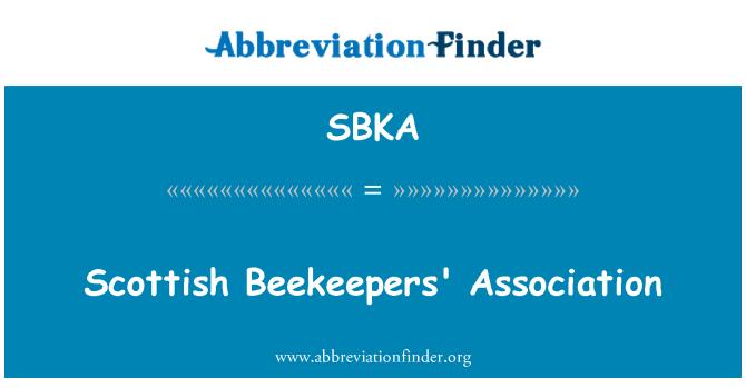 SBKA: Scottish Beekeepers' Association