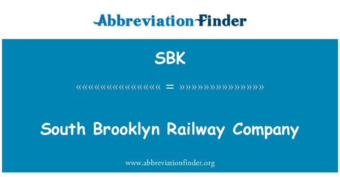 SBK: South Brooklyn Railway Company