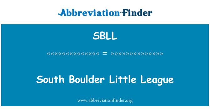 SBLL: South Boulder Little League
