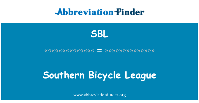 SBL: Southern Bicycle League