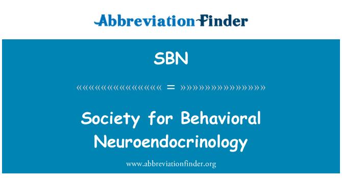 SBN: Society for Behavioral Neuroendocrinology