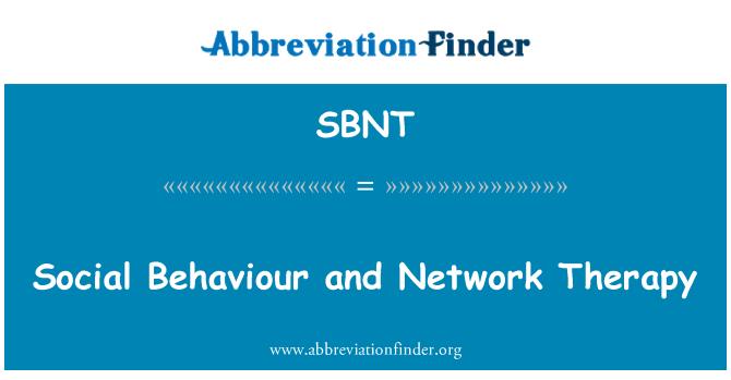 SBNT: Comportamiento social y la terapia de red