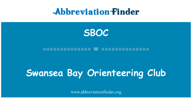 SBOC: Swansea Bay Orienteering Club
