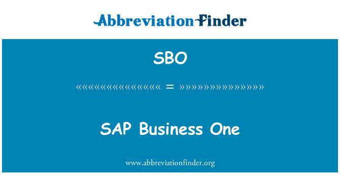 SBO: SAP Business One