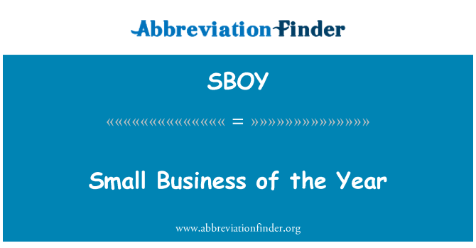 SBOY: Small Business of the Year