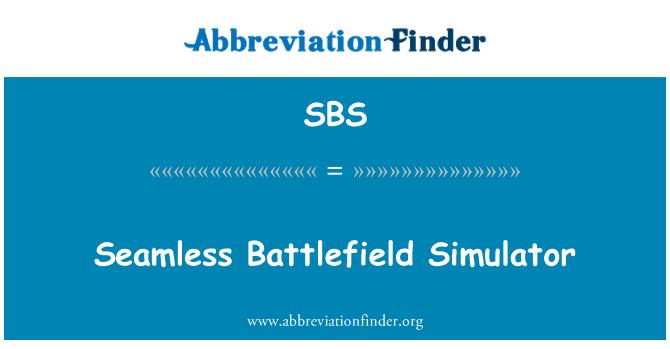 SBS: Seamless Battlefield Simulator