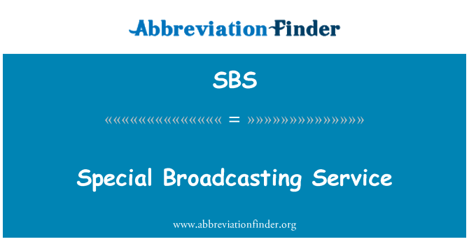 SBS: Special Broadcasting Service