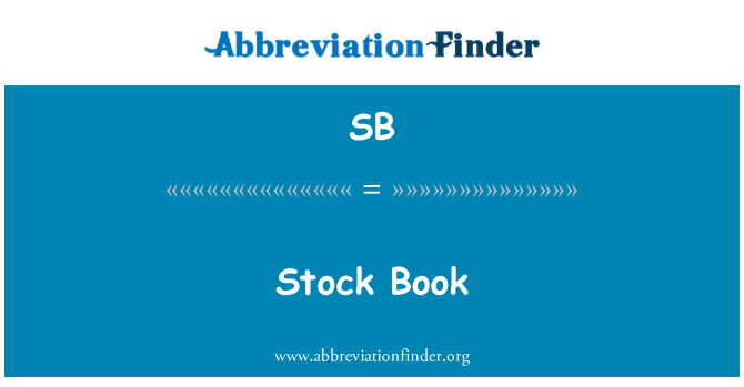 SB: Stock Book