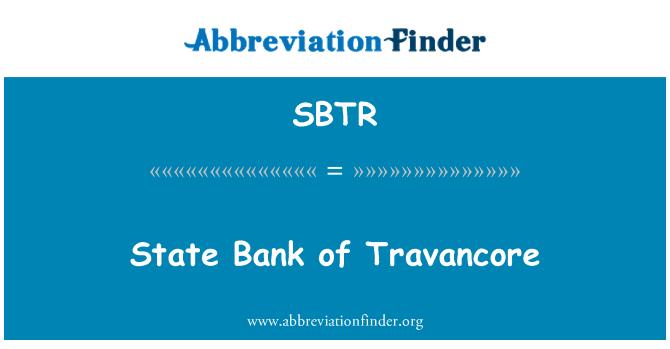 SBTR: Banco del estado de Travancore