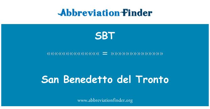 SBT: San Benedetto del Tronto