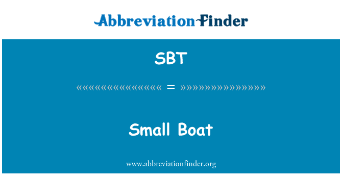 SBT: Small Boat
