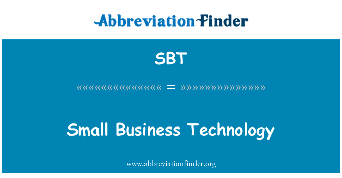 SBT: Small Business Technology