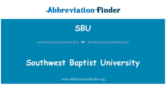 SBU: Southwest Baptist University