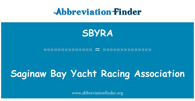 SBYRA: Saginaw Bay Yacht Racing Association
