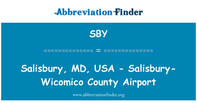 SBY: Salisbury, MD, USA - Salisbury-Wicomico County Airport